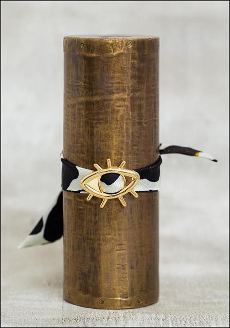 Annee Eye Scarf Tie Bracelet - CREAM LEOPARD