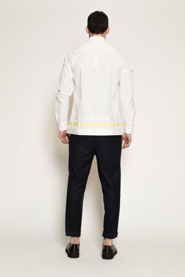 Men's Kenneth Ning Grosgrain Shirt in White
