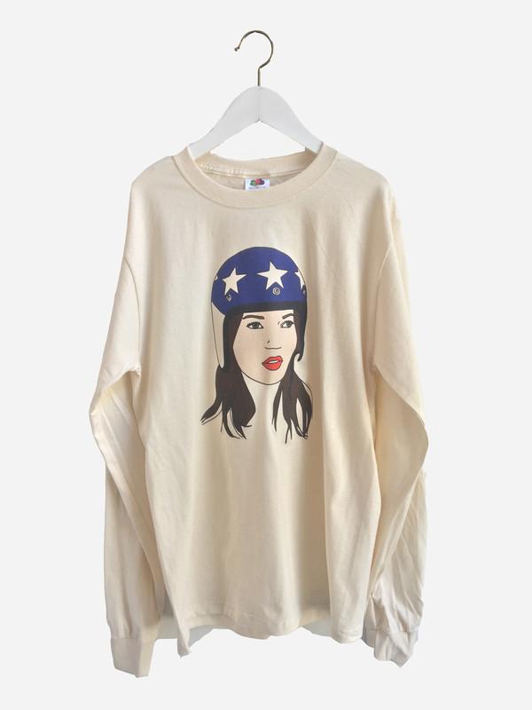 Karleigh Dru Art Kate Moss T-Shirt in Multi
