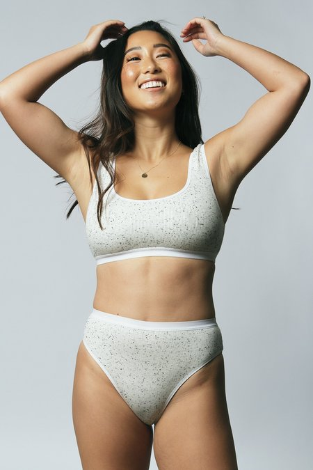 Mary Young Carter Bra - Speckled White