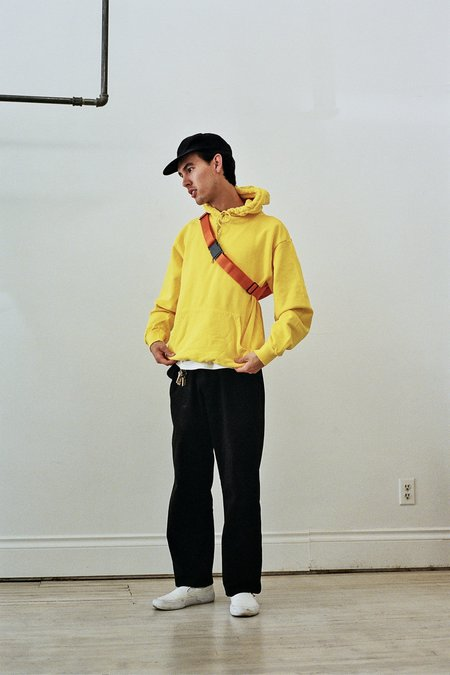 UNISEX Calculus Recycled Cotton Garment Dyed Hoodie - Yellow
