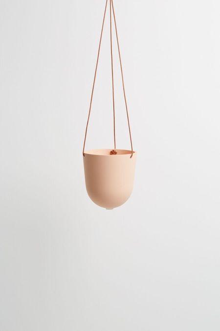 Capra Designs Block Colour Hanging Planter - Salt