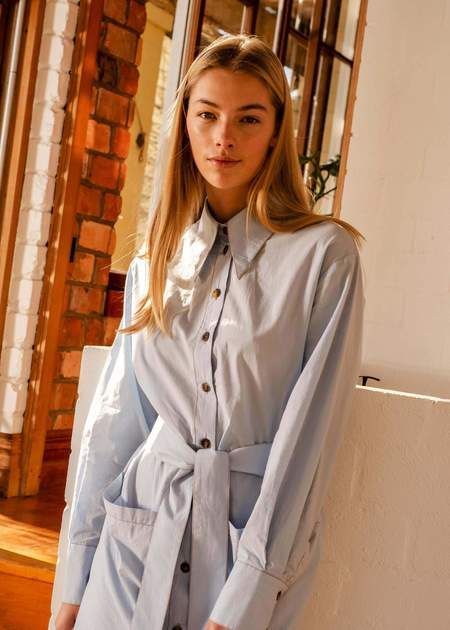 Penny Sage Novella shirt dress - pale blue