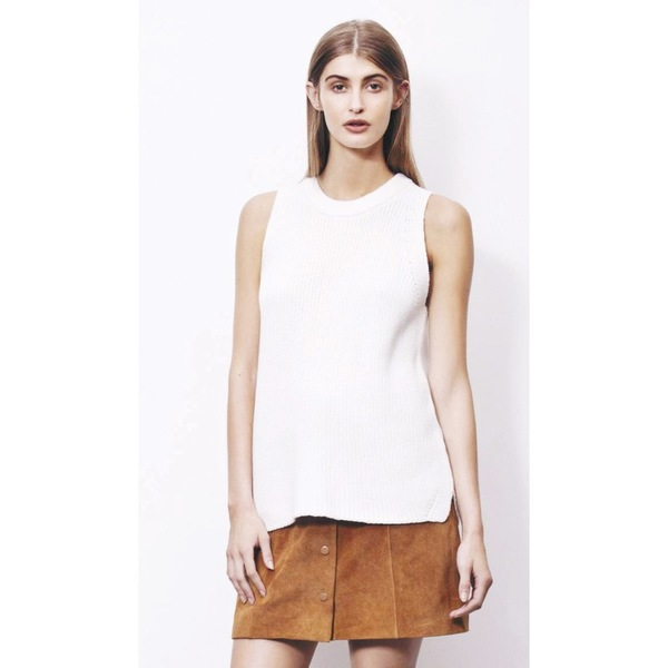 Just Female Ashley Knit Top - Cream