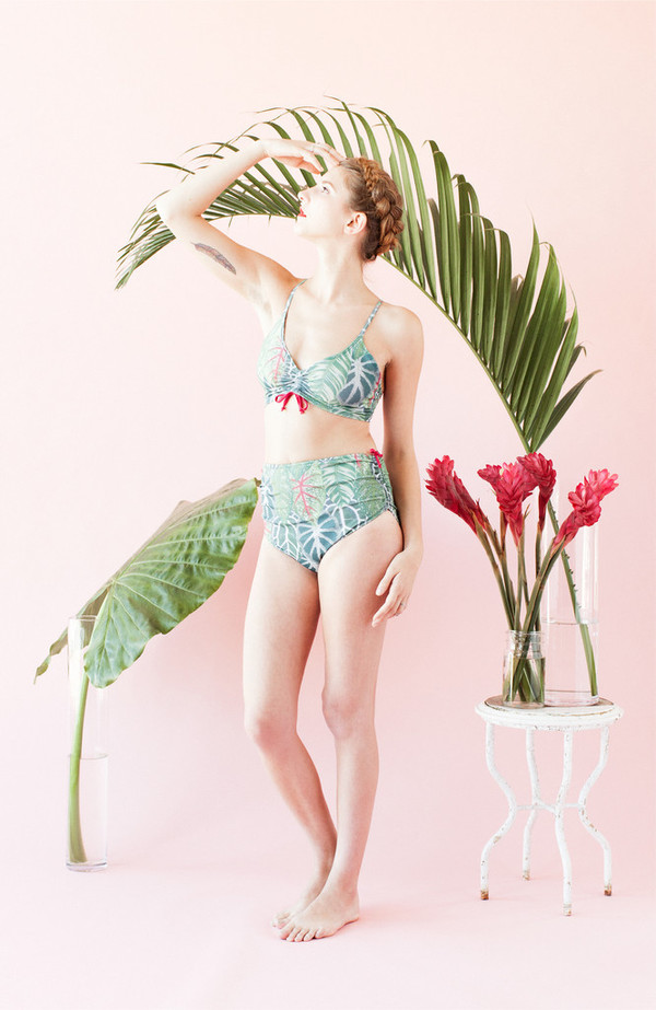 Eden Bikini - Leaf Print