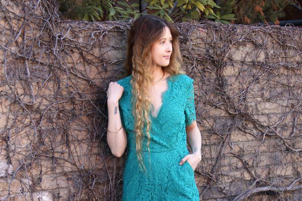 Darling Roisin Lace Jumpsuit (Emerald)