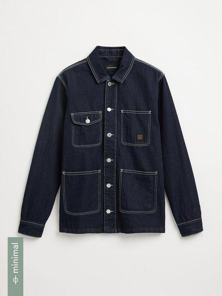 frank & oak good cotton denim overshirt - Dark blue