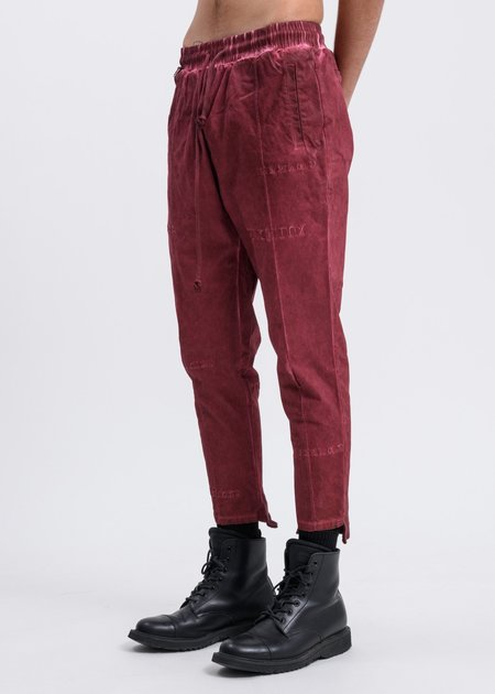 Black Lux Multi Logo Cropped Pants - Rust