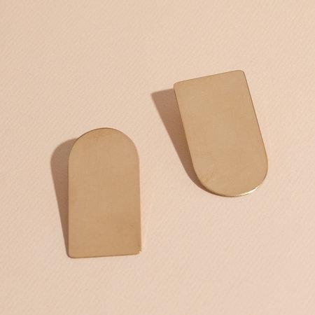 Lindsay Lewis Arch Earrings - Brass