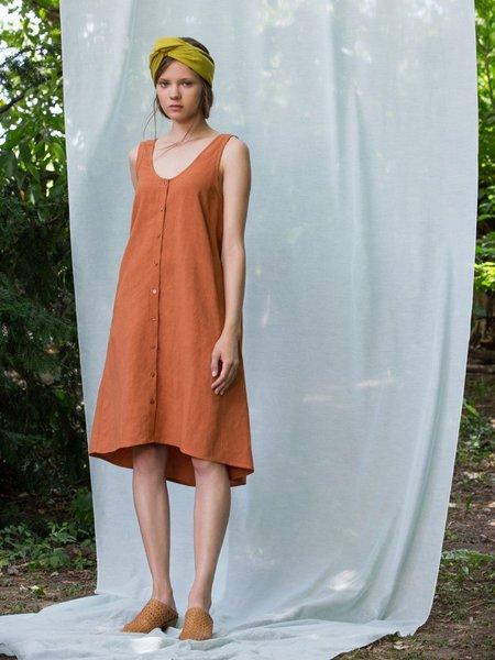 Eve Gravel I Sola Bella Dress - Terra Cotta