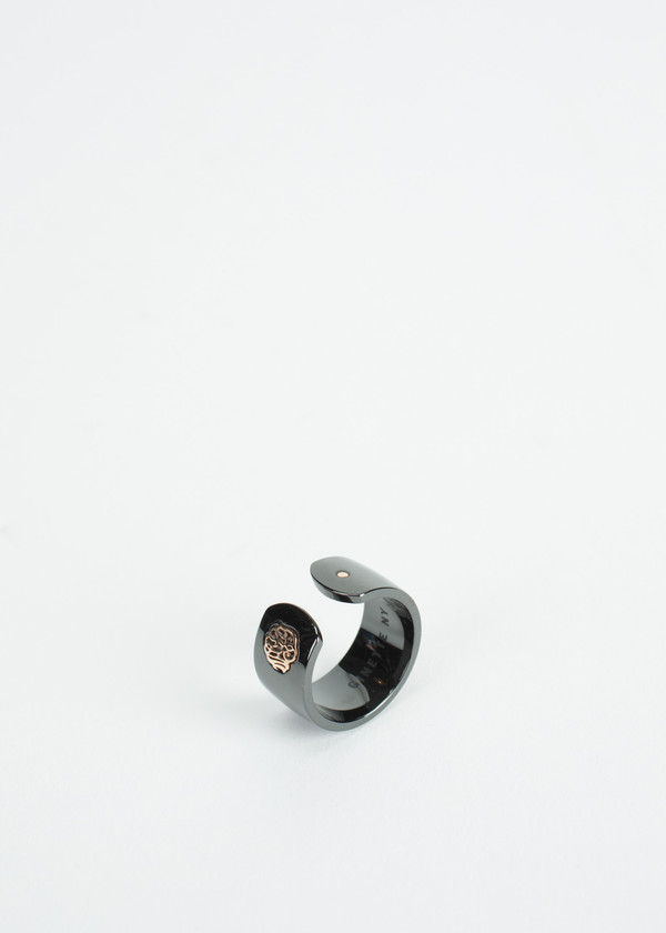Ginette NY Ceramic Monogram Open Ring