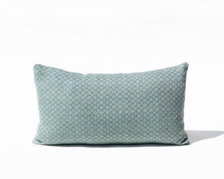SSEN Handwoven Geo IV Lumbar Pillow Cover - Turquoise