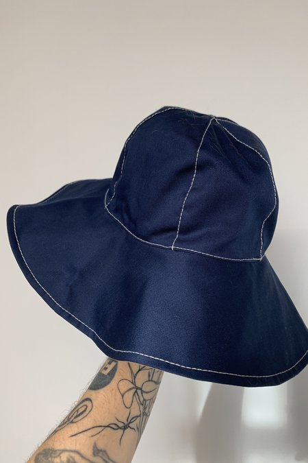 Marni Reversible Wide Brim Bucket Hat - Navy