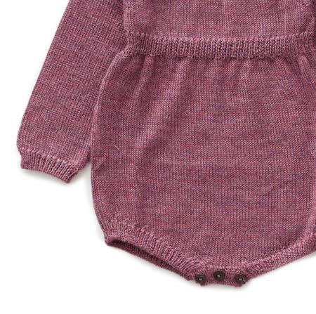 kids Oeuf Knit Romper - purple