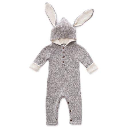 kids Oeuf Rabbit Animal Hooded Jumper - gray
