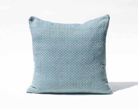 SSEN Handwoven Geo IV Pillow Cover - Turquoise