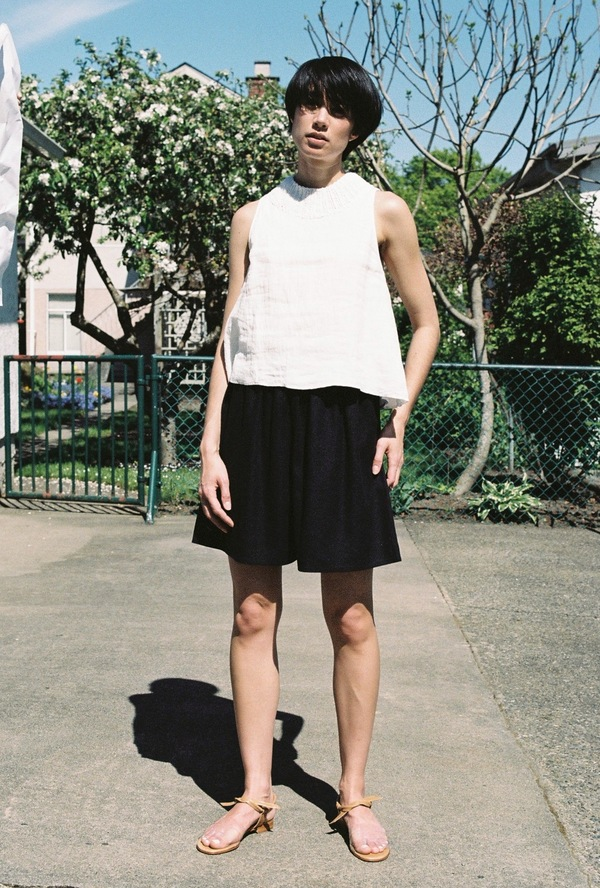 BaseRange Jogging Short - black raw silk