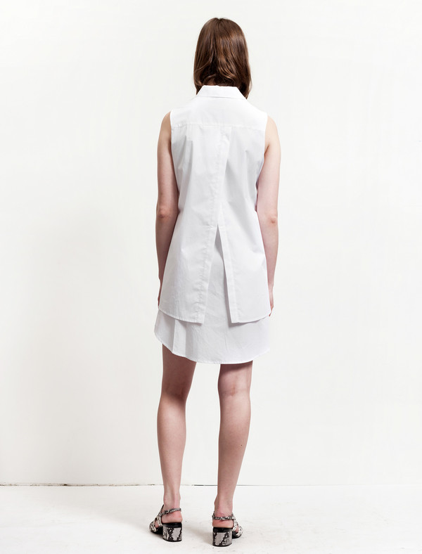 Thakoon Womens Layered Shirtdress - White