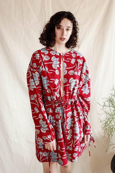 Seeker x Retriever Hasu Reversible Dress - Water Lilies