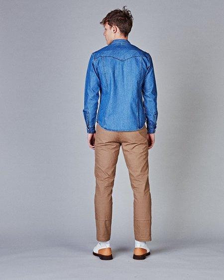 Corridor Denim Washed Western Shirt - Triple Stitch