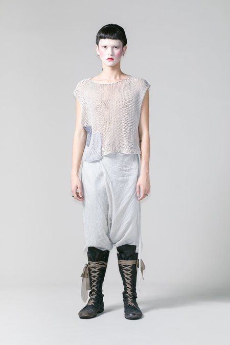 Lela Jacobs Cotton Linen O Patch Vest - Natural