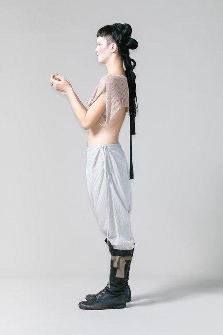 Lela Jacobs Cotton Linen O Shoulder Knit - Dusk
