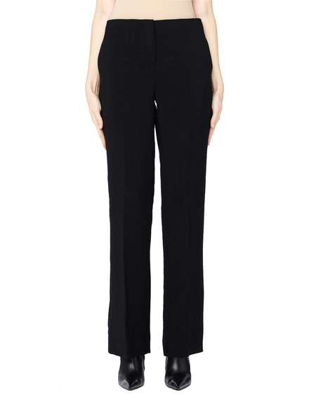 The Row Avery Straight Leg Wool Pants - Black