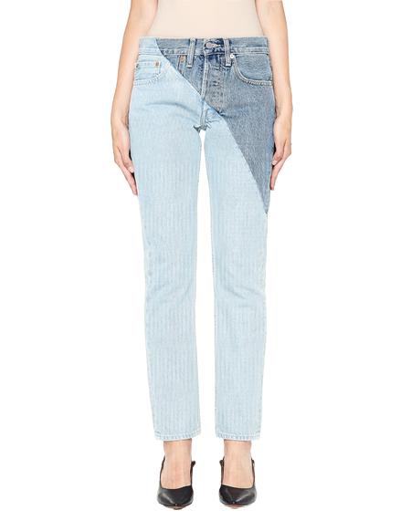 Vetements Cross Cut Cotton Jeans