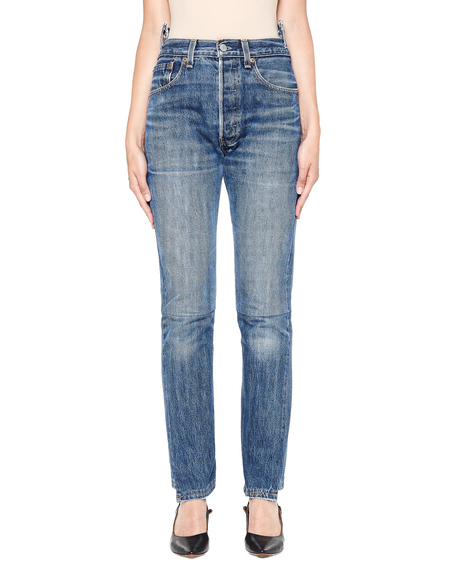 Vetements Levi's High Waist Denim Jeans - Blue