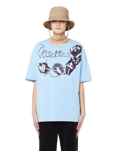 Vojettes Cotton Ballerina Print T-Shirt - Blue