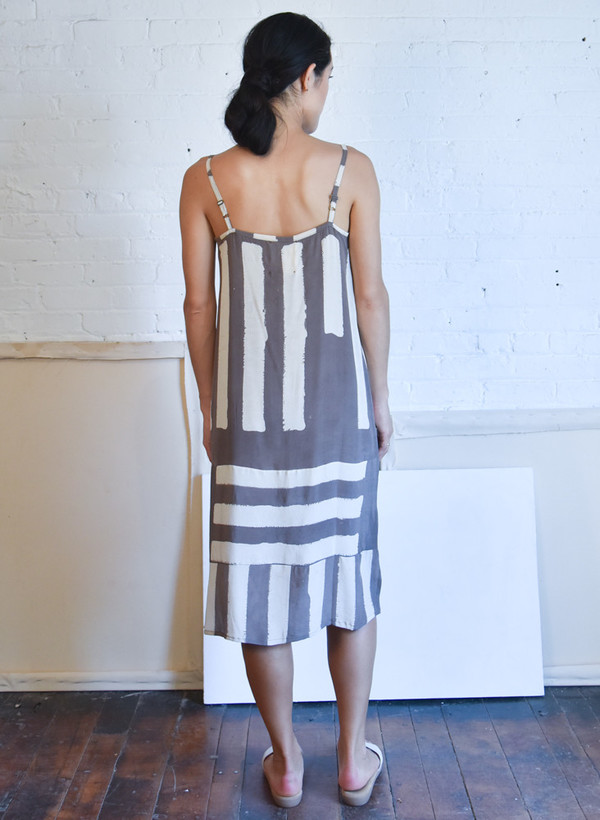 Seek Collective Yin Dress, dove griffa print