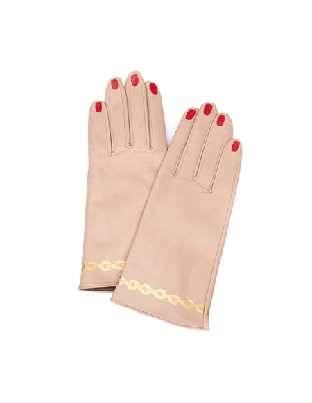 Undercover Leather Gloves - Beige