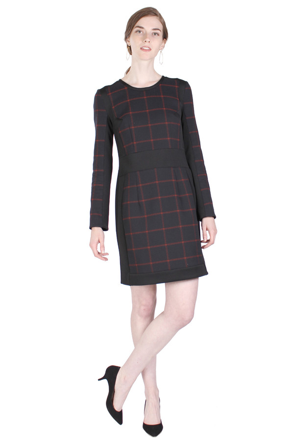 Sonia by Sonia Rykiel Check Stretch Dress