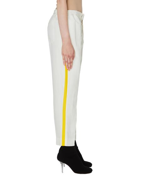 Haider Ackermann Striped Azul Trousers - White/Yellow