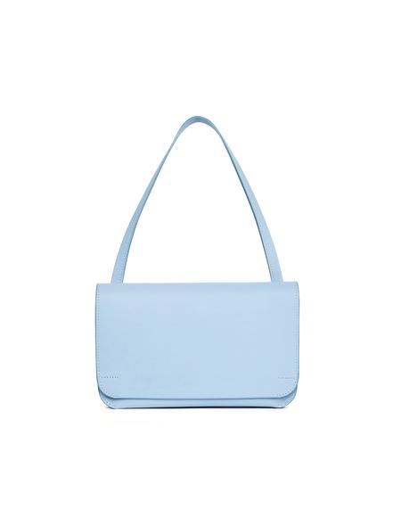 Isaac Reina Blue Leather Clutch Bag