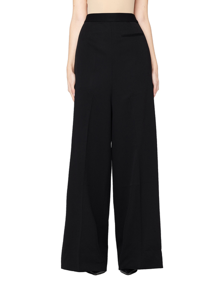 Vetements Extra Long Wide Leg Classic Pants - Black