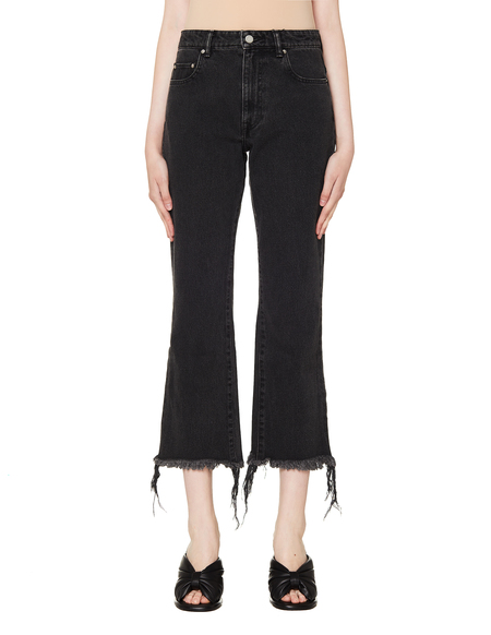 John Elliott Black Cropped Riley Jeans