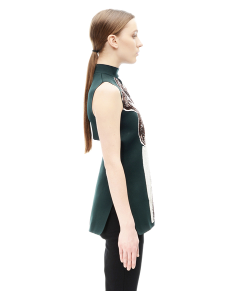 Marni Green Sequin Embroidered Top