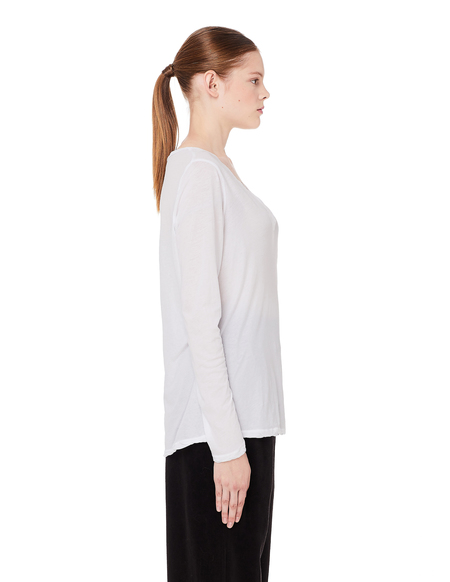 James Perse White cotton L/S T-Shirt