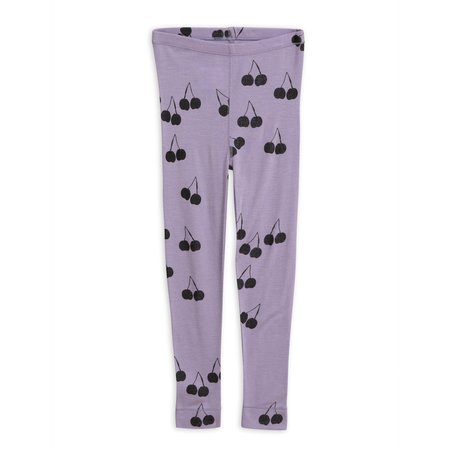kids mini rodini cherry wool leggings - purple