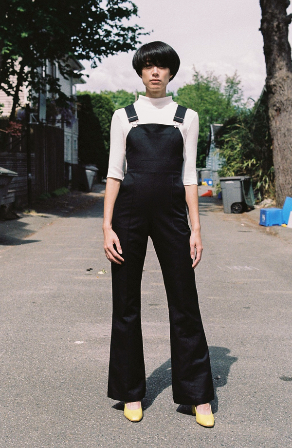 Horses Atelier High-Waisted Overalls - black