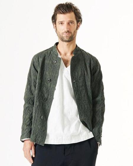 Sage de Cret Cotton Jacquard Jacket - Khaki