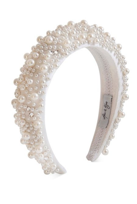 Alice & Blair Grace Pearl Headband - White