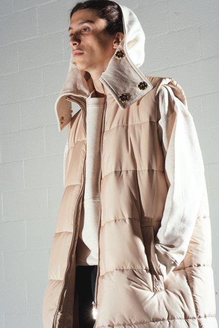 JW ANDERSON Long Sleeveless Puffer Jacket - Oat