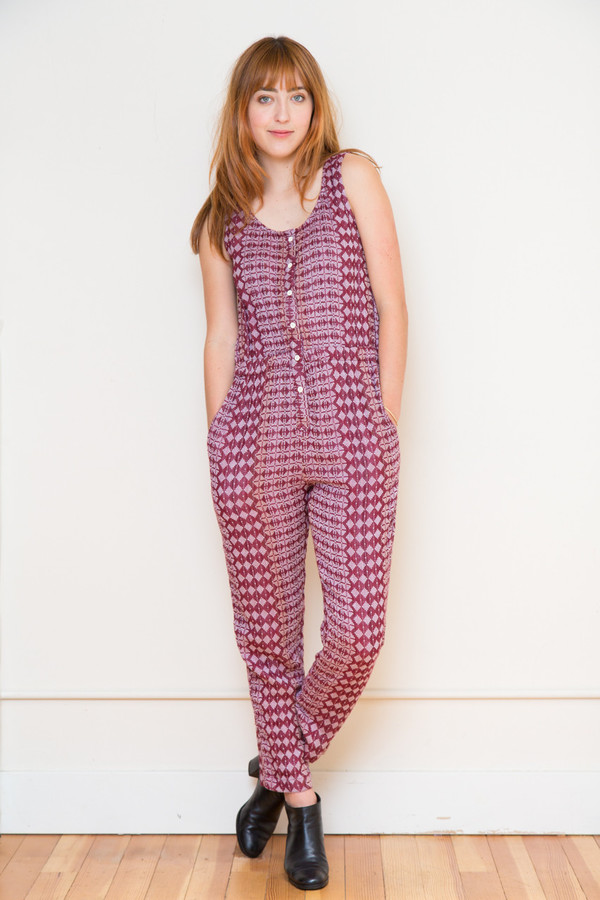 ace & jig jumpsuit in sable