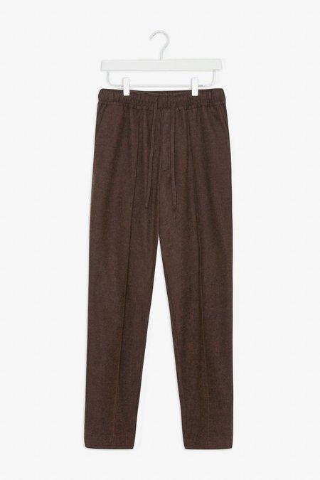 Frisurclothing Tekla Flannel Trousers - Earth