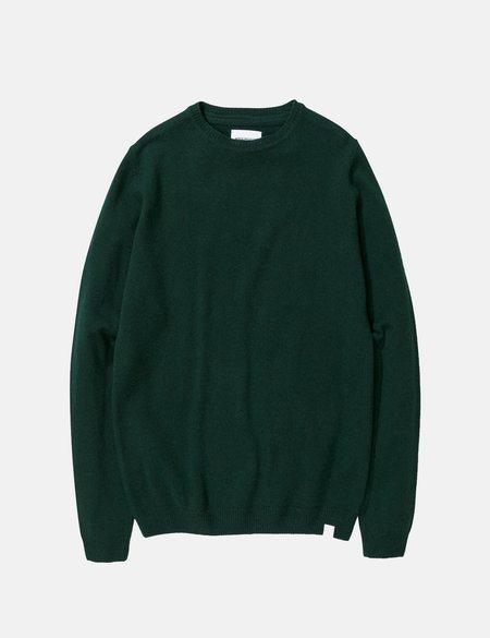 Norse Projects Sigfred Lambswool Knit Sweatshirt - Quartz Green
