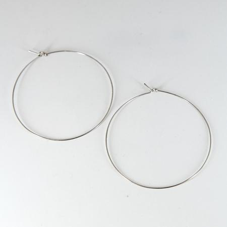 Year 901 Benh Pham Large Hoop Earrings - Silver