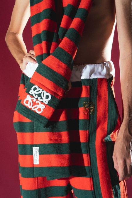 LOEWE Padded Anagram Scarf - Rugby Stripes