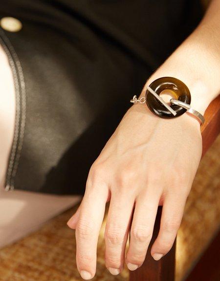 Cled Opening Torus Toggle Bracelet - Sterling Silver